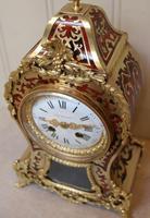 French Tortoiseshell & Brass inlay Mantel Clock (13 of 14)