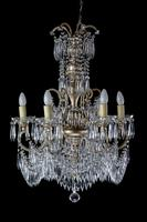 Gilt Bronze Six Arm Chandelier