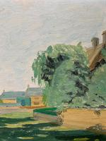 Exquisite Original Early 20th Century Impressionist Farmland Landscape Oil Painting (4 of 12)