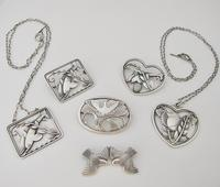 Beautiful Georg Jensen Vintage Silver Arno Malinowski Ibis Design Brooch (4 of 4)