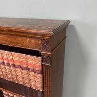 Quality Arts & Crafts Victorian Oak Large Open Bookcase (4 of 6)
