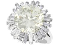 8.24ct Diamond & Platinum Ring by Boucheron - Vintage c.1950