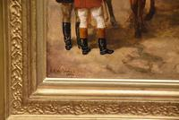 "Oil Painting by Edward Benjamin Herberte ""The Meet at Stonebridge"" (5 of 6)"