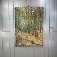 Antique German Impressionist Landscape Oil Painting of Woodland Signed Keiker (2 of 10)
