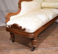 Regency Chaise Longue Sofa Walnut Lounge Day Bed (7 of 25)