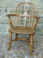 Child's Antique Oak Windsor Chair (6 of 9)