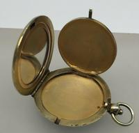 Silver Gilded Guilloche Enamel Pendant Compact Cohen & Charles London c.1920 (7 of 9)