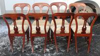 1900's Mahogany Set 8 Balloon Back Dining Chairs with Pop out Seats (3 of 3)