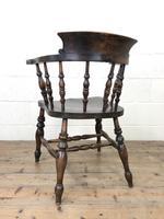 Antique Beech & Elm Smoker's Bow Armchair (9 of 9)