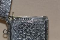 Victorian 1886 John Gammage Solid Birmingham Silver Vesta Case (4 of 4)
