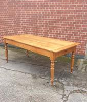 Superb French Cherry Farmhouse Dining Table