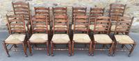 Set of 12 Oak Ladder Back Dining Chairs - Royal Oak Furniture (3 of 15)