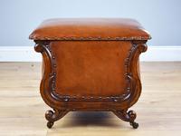 Victorian Hand Dyed Leather Ottoman (14 of 14)
