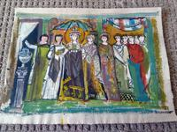 2 Moya Cozens Slade School, Mid Century Modern British Paintings (4 of 7)