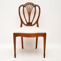 Set of 6 Antique Mahogany Sheraton Style Dining Chairs (3 of 9)