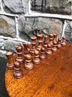 Antique Boxwood & Mahogany Chess Set (5 of 6)