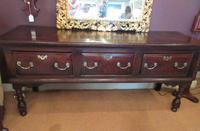 George II Period Oak Three Drawer Dresser (9 of 14)