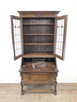 Early 20th Century Antique Oak Bureau Bookcase (4 of 16)
