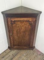 Antique 19th Century Oak Corner Cupboard (10 of 11)