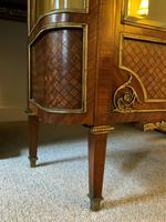 Exceptional 19th Century French Kingwood Parquetry Gilt Metal Vitrine Display Cabinet (14 of 17)