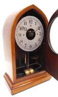 Fine Antique Bulle Electric Mantel Clock – Mahogany & Satinwood Case Mantle Clock (4 of 9)