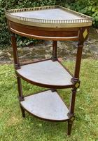 French Corner Stand in Mahogany & Marble (2 of 4)