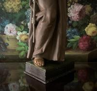 Bohumil Kafka RARE Carved Statue Sculpture St Anthony & Jesus (23 of 32)