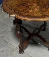 Pretty Walnut Carolean Coffee or Lamp Table (7 of 10)