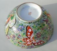 Antique Chinese Porcelain Bowl with Butterflies Famille Rose (3 of 12)