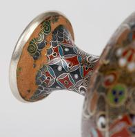 Oriental, Chinese / Japanese Exceptional Silver Metal Cloisonne Vase (5 of 25)