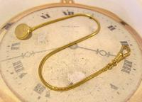 Vintage Pocket Watch Chain 1970s 12ct Gold Plated Albert & Ornate Button Hole Fob (5 of 10)