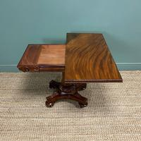 Fine Quality William IV Figured Mahogany Antique Card / Games Table (5 of 7)