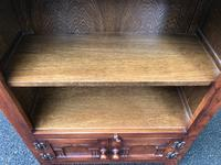 Carved Oak Open Bookcase (3 of 7)