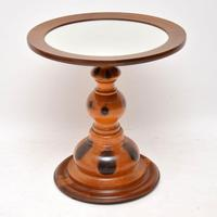 Antique Mirrored Top Olive Wood Coffee Table (2 of 7)