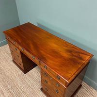 Fine Quality Victorian Mahogany Antique Pedestal Desk (6 of 7)