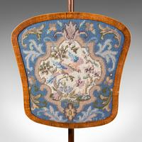 Antique Pole Screen, English, Needlepoint, Fire Shield, Tapestry, Regency c.1820 (7 of 12)