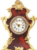 Antique French Shell & Ormolu 8-Day Mantel Clock Rococo Boulle Case Segment Dial (2 of 10)