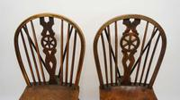 Near Pair of Victorian Windsor Wheel Back Kitchen Chairs in Beech & Elm (3 of 12)
