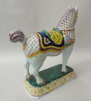 Rare Mid 19th Century Dutch Delft Ceremonial Horse (5 of 8)