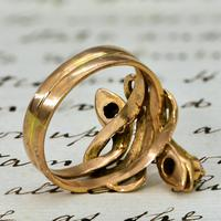 The Antique Late Victorian Diamond Crowned Snake Ring (5 of 5)