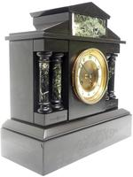 Antique French Slate & Green Marble Mantel Clock Striking 8-day (9 of 9)