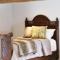 Gothic Style Single Walnut Antique Bed (2 of 8)