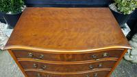 Burr Yew Serpentine Front Chest of Drawers (5 of 5)