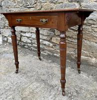 Antique Victorian Walnut Writing Table Desk (10 of 17)