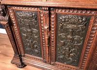Victorian Carved Oak Secretaire Bookcase (17 of 25)