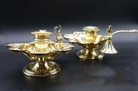 Charming Pair of Mid 19th Century Brass Chambersticks (6 of 9)