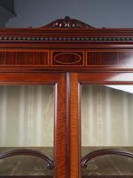 Antique Sheraton Style Inlaid Mahogany Display Cabinet (4 of 18)