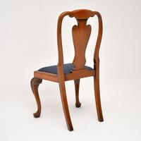 Set of 10 Antique Queen Anne Style Burr Walnut Dining Chairs (9 of 13)