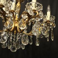 Italian 15 Light Gilded Brass Antique Chandelier (9 of 10)