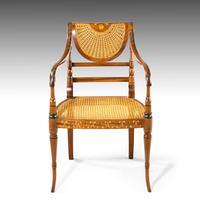 Elegant Early 20th Century Satin Mahogany Salon Suite (5 of 8)